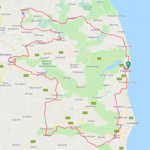 Tour de Broads: Spring Route Map